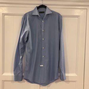 Ralph Lauren Black Label Mens Blue Dress Shirt